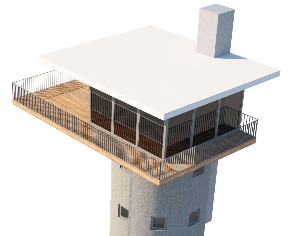 Dachterrasse in Pregarten