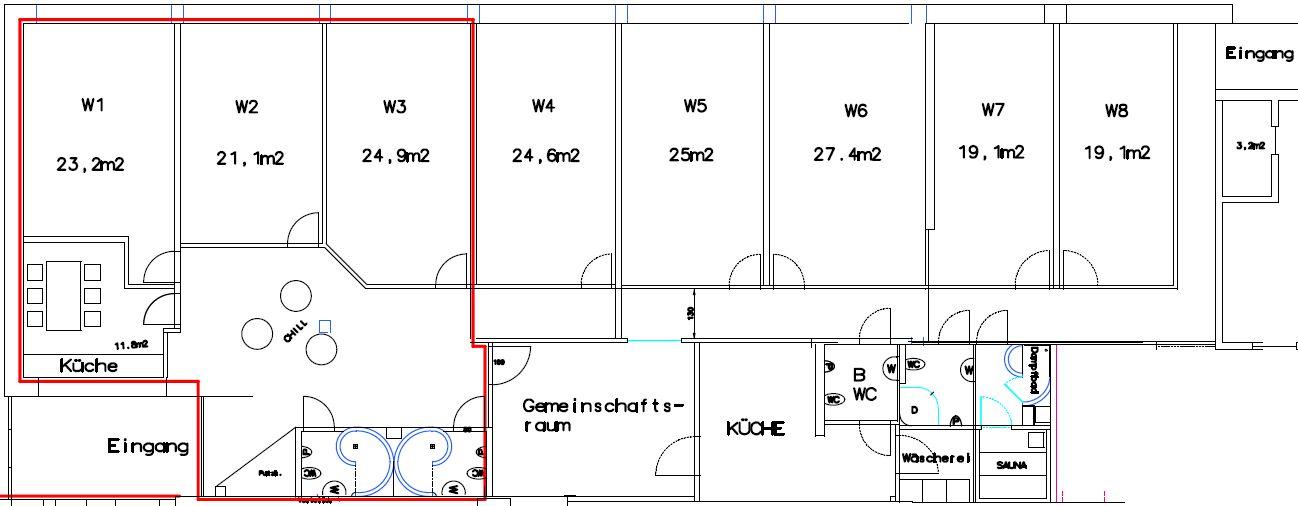 Studentenzimmer hagenberg Grundrissplan